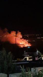 Tarquinia, fiamme all'Olivastro-Pantano