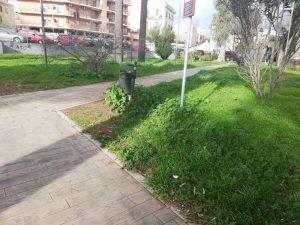 Parco del Pincio, erba alta e degrado