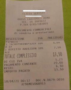 Stessa farmacia, stessa ora: lui paga la tassa notturna un altro utente no. E' polemica