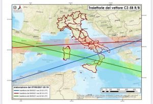 Razzo cinese in caduta, Lazio tra le regioni che rischiano di essere colpite dai frammenti