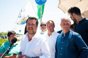 Referendum, Salvini fa tappa a Ladispoli e Fregene