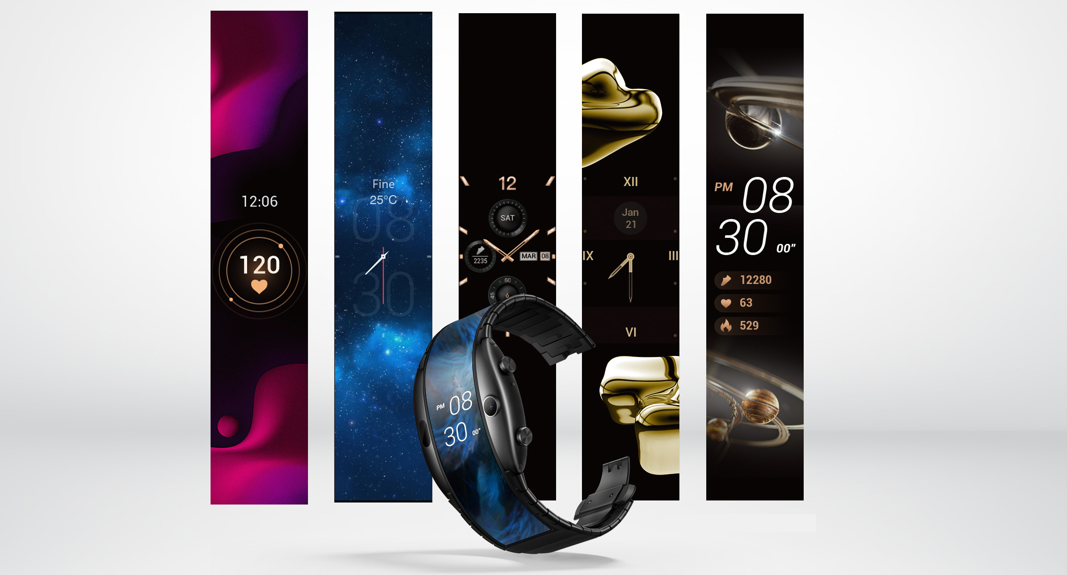 Alpha, lo smartwatch ibrido con il display flessibile
